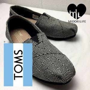 TOMS Classic Diamo Wool Geometric Flats